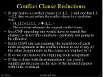 conflict clause reductions