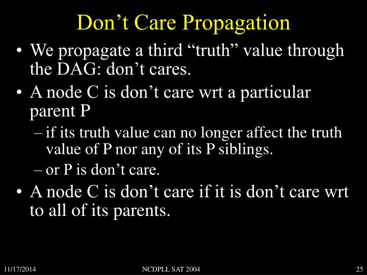 Don't Care Propagation