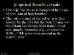 empirical results caveats