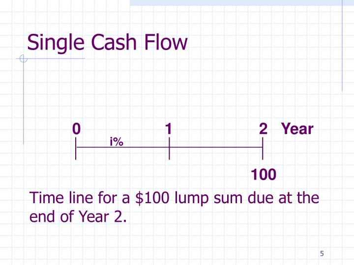 Single Cash Flow