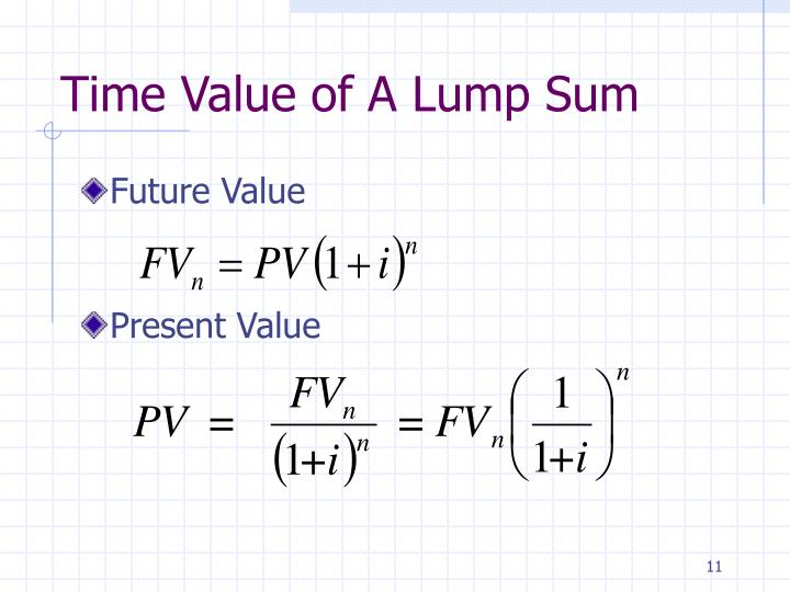 Time Value of A Lump Sum