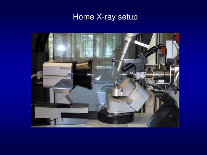 Home X-ray setup