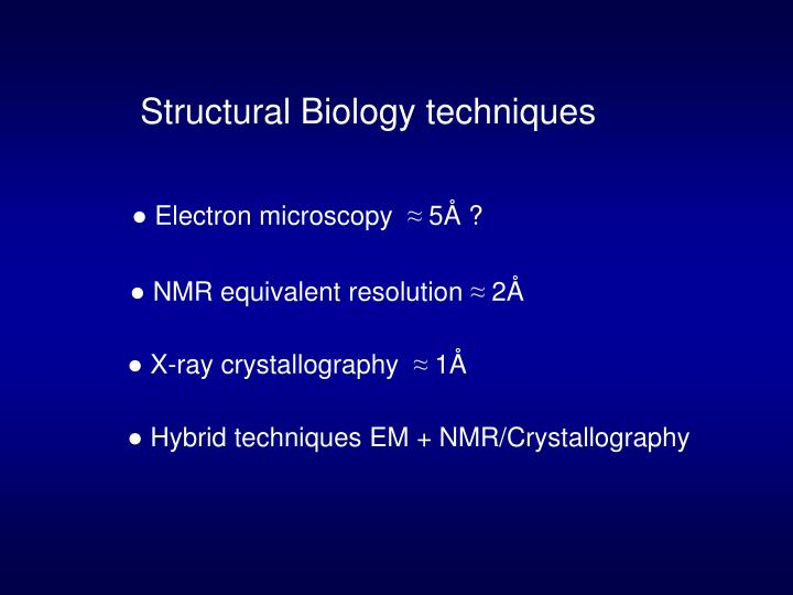 Structural Biology techniques