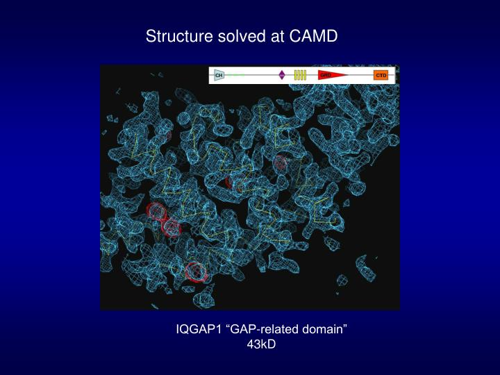 Structure solved at CAMD