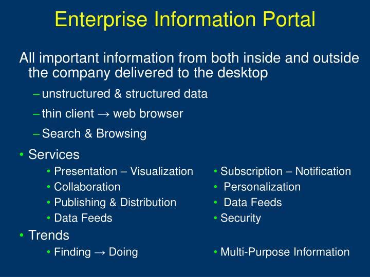 Enterprise Information Portal