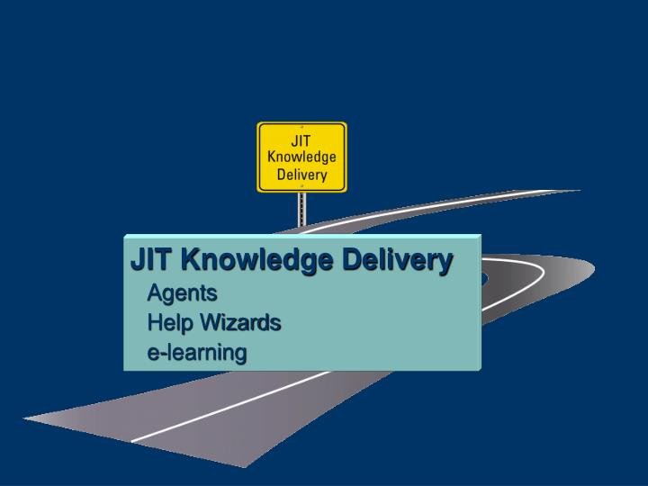 JIT Knowledge Delivery