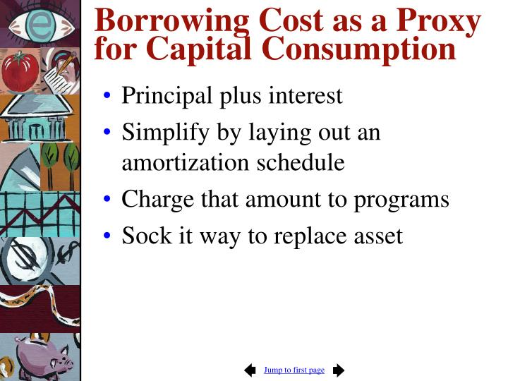 Borrowing Cost as a Proxy for Capital Consumption