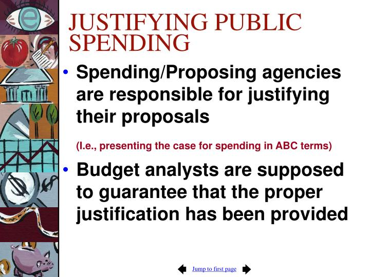 Justifying public spending