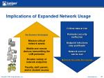 implications of expanded network usage
