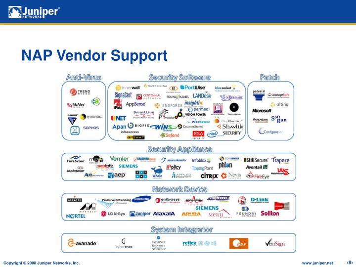 NAP Vendor Support