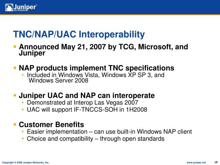 TNC/NAP/UAC Interoperability