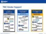 tnc vendor support