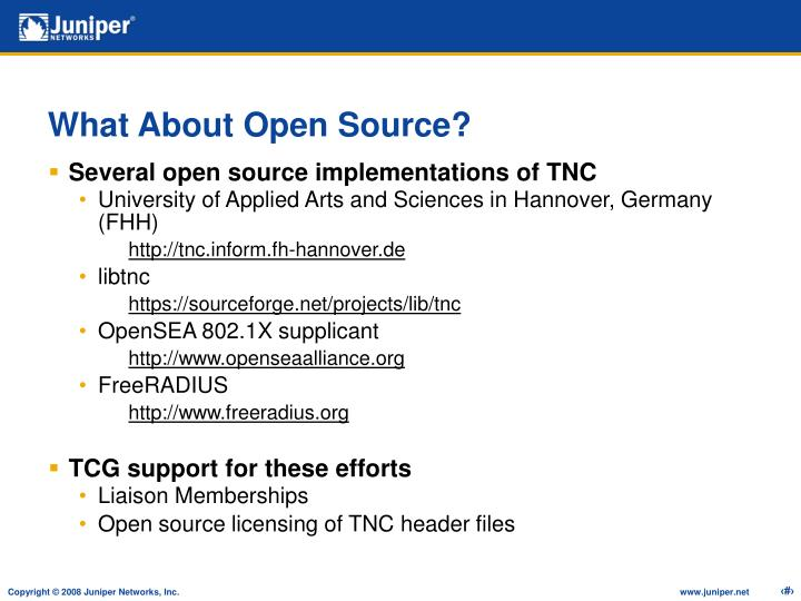 What About Open Source?