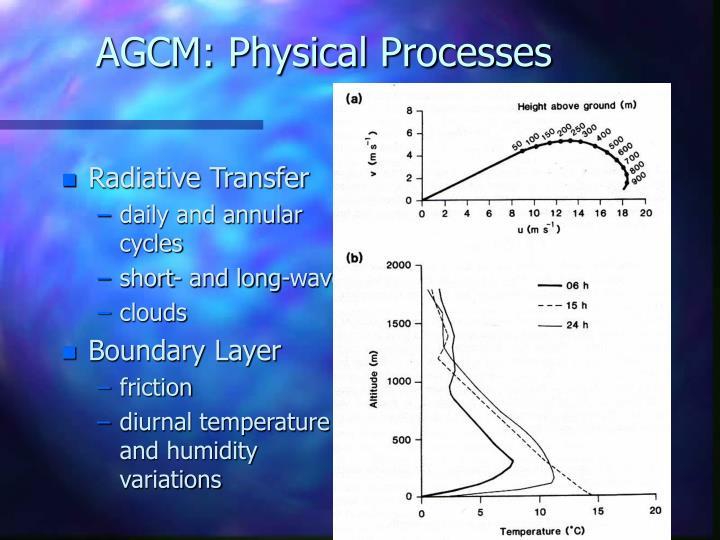 AGCM: Physical Processes