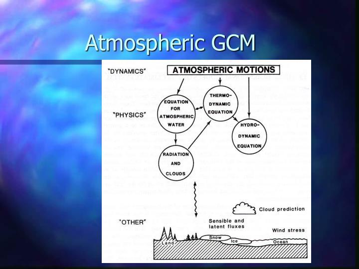 Atmospheric GCM