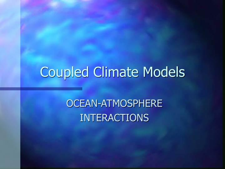 coupled climate models