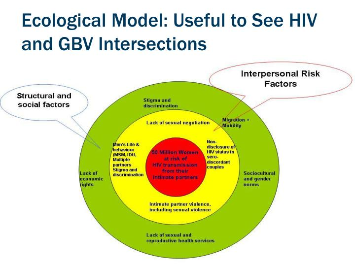 Ecological Model: Useful to See HIV and GBV Intersections