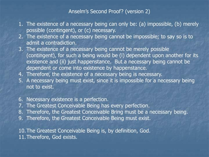 Anselm's Second Proof? (version 2)