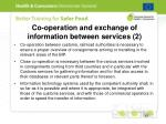 co operation and exchange of information between services 2
