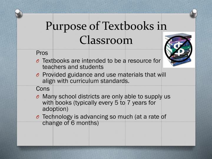 Purpose of Textbooks in Classroom