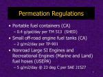 permeation regulations