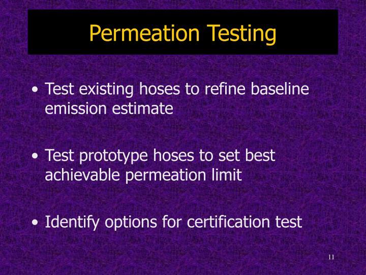 Permeation Testing