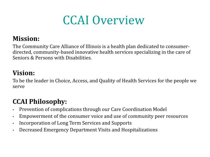 CCAI Overview