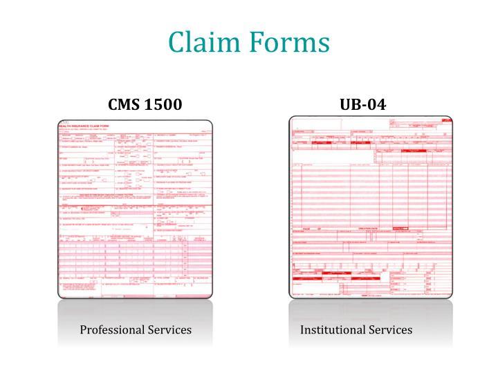 Claim Forms