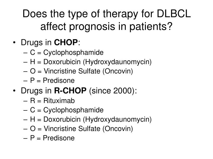 Does the type of therapy for DLBCL affect prognosis in patients?