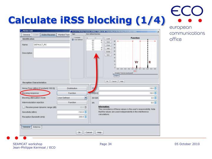 Calculate iRSS blocking (1/4)