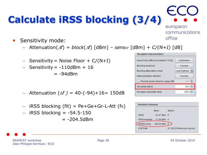 Calculate iRSS blocking (3/4)