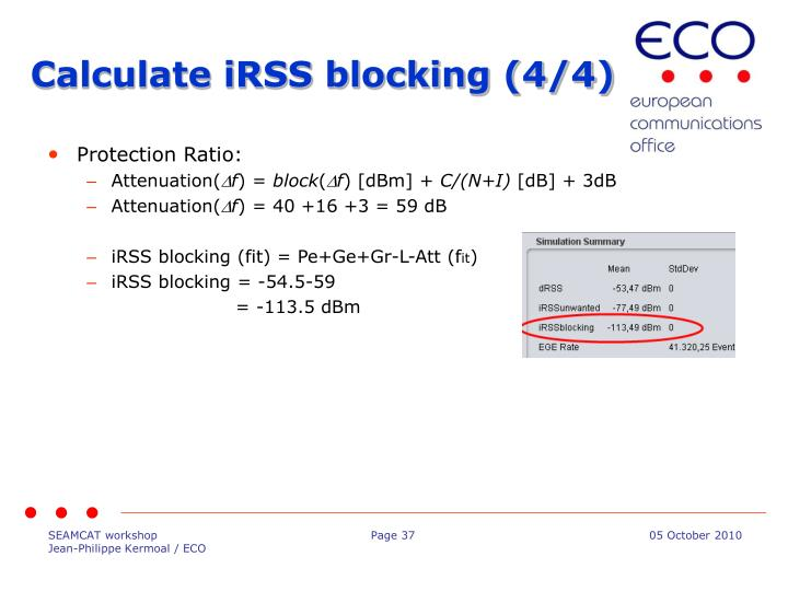 Calculate iRSS blocking (4/4)