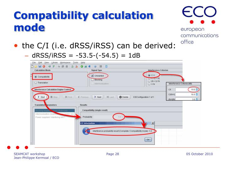 Compatibility calculation mode