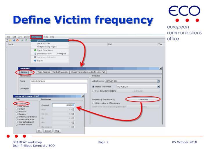 Define Victim frequency