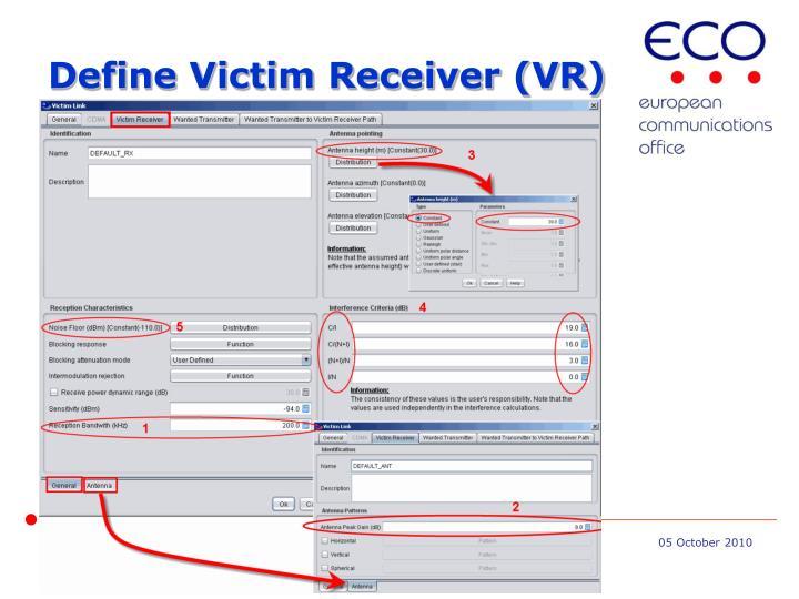 Define Victim Receiver (VR)