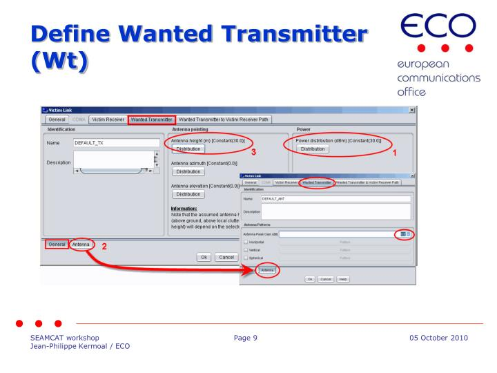 Define Wanted Transmitter (Wt)