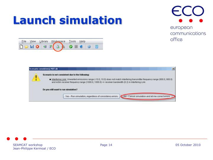 Launch simulation