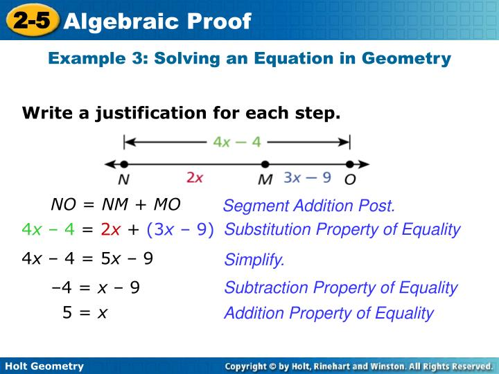 Example 3: Solving an Equation in Geometry