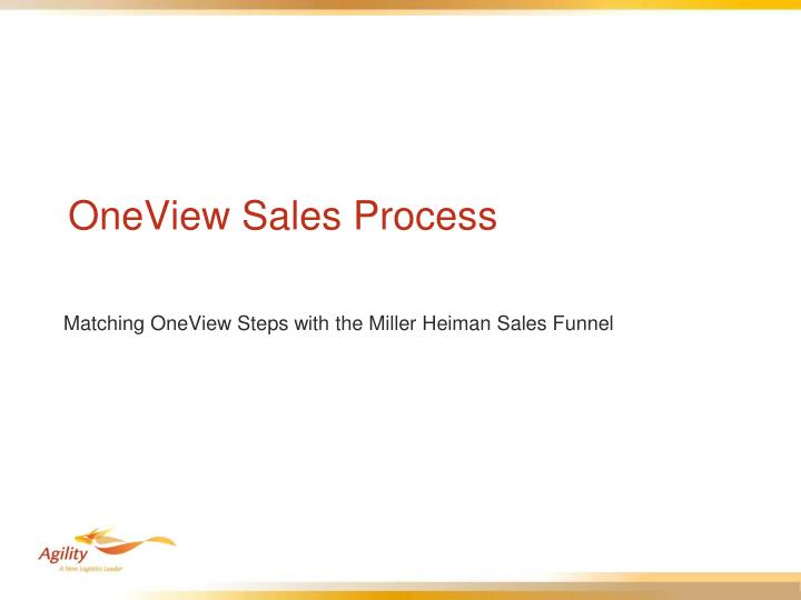 OneView Sales Process