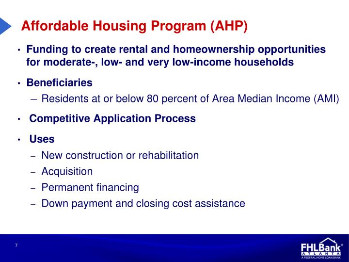 Affordable Housing Program (AHP)