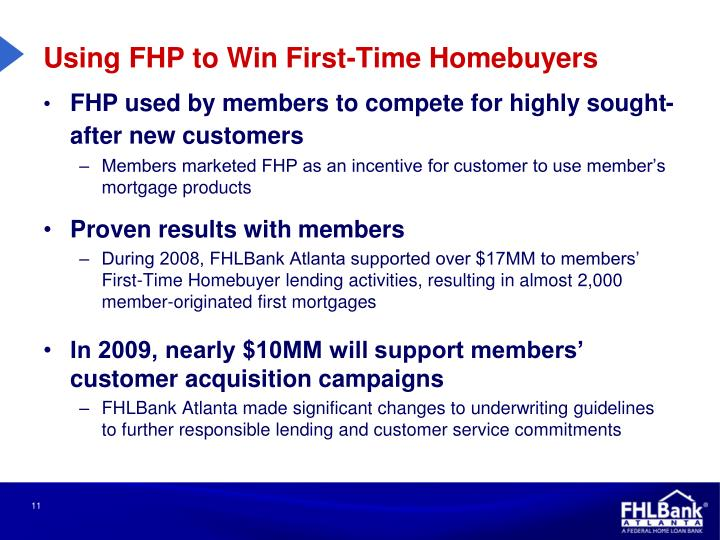 Using FHP to Win First-Time Homebuyers