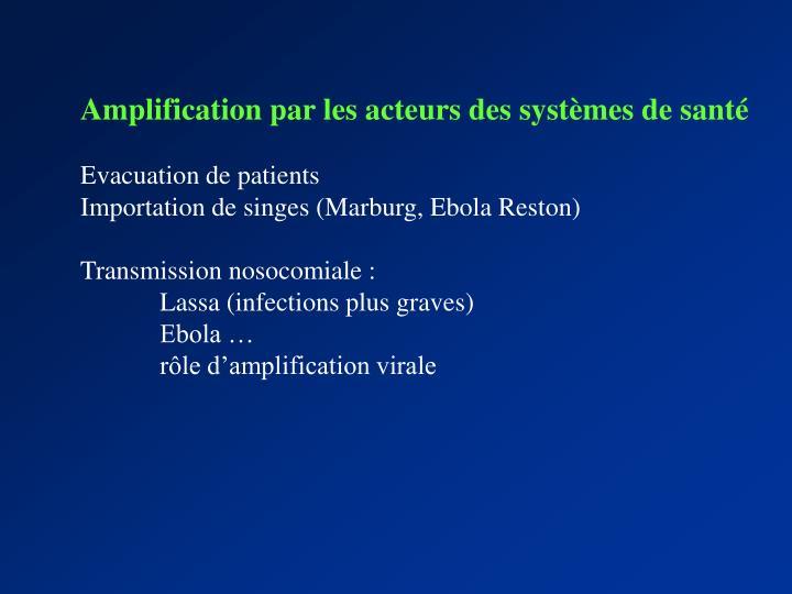Amplification par les acteurs des systèmes de santé
