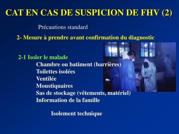 CAT EN CAS DE SUSPICION DE FHV (2)