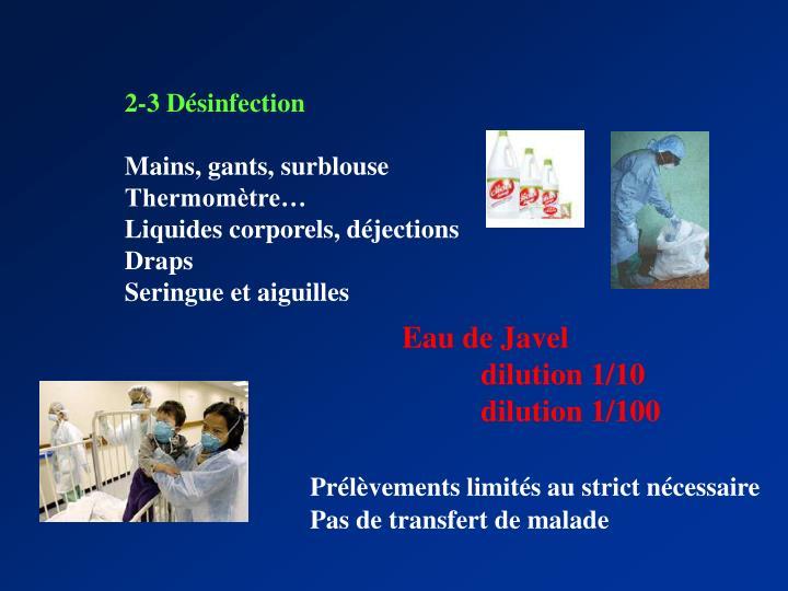 2-3 Désinfection