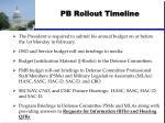 pb rollout timeline