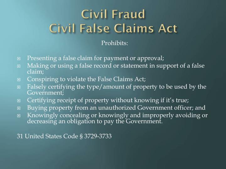 Civil Fraud