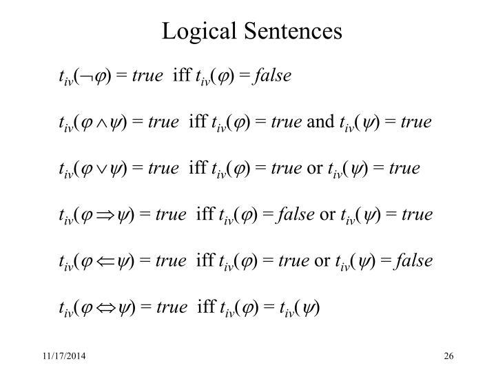 Logical Sentences