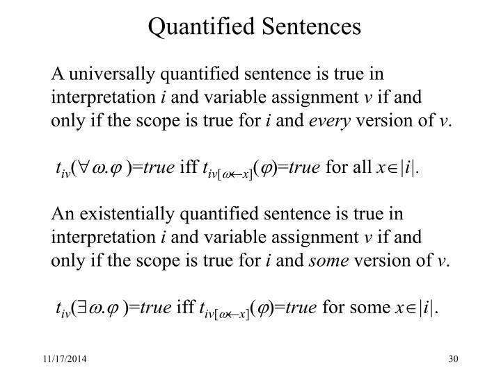 Quantified Sentences
