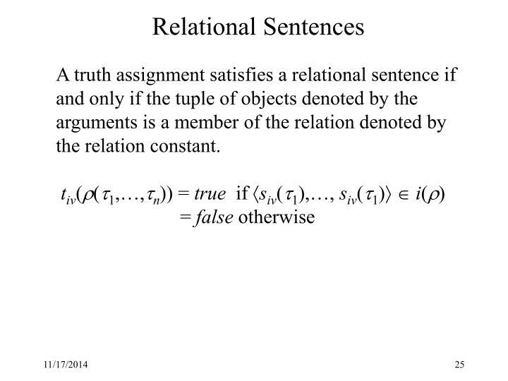 Relational Sentences