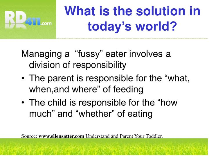 What is the solution in today's world?